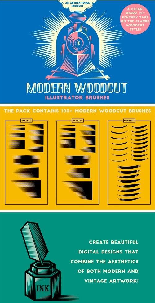 CM - Modern Woodcut Brushes 2310453