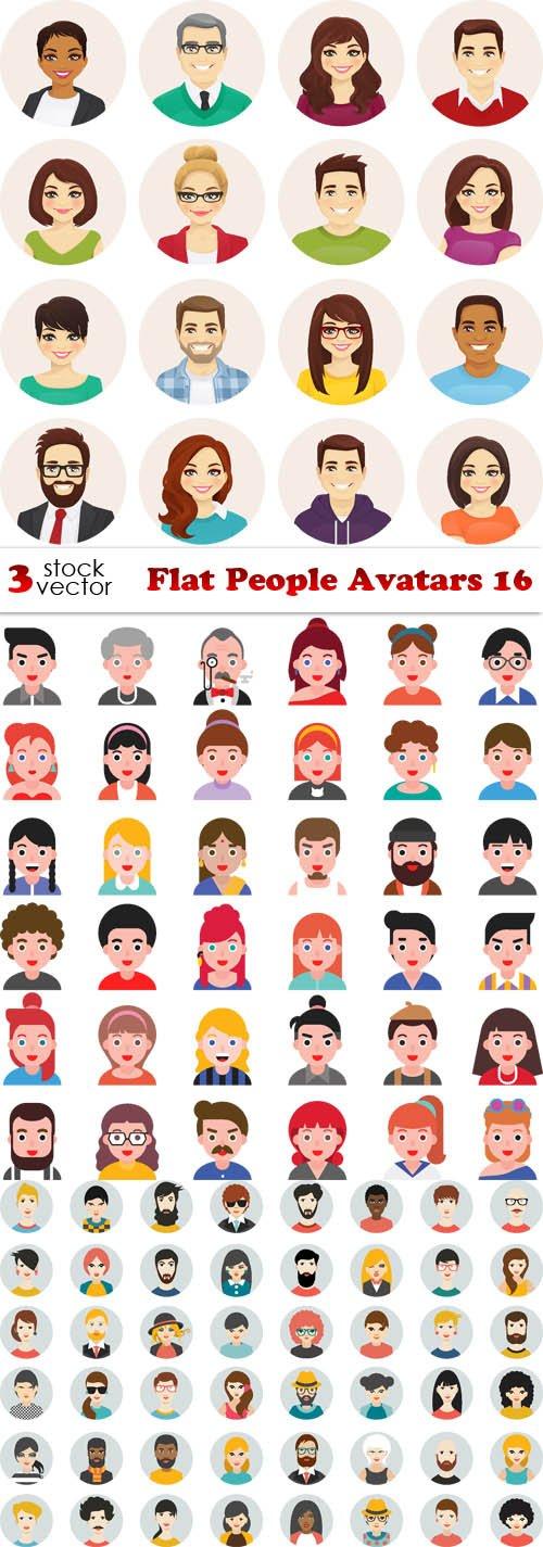 Vectors - Flat People Avatars 16