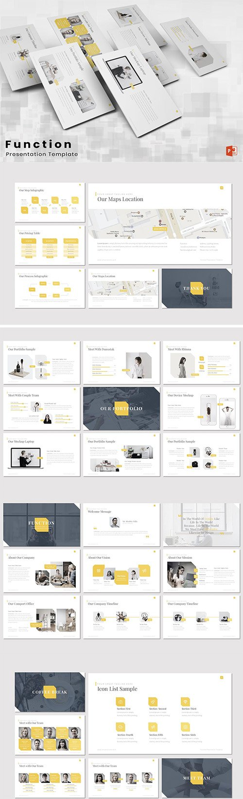 Function - Powerpoint Keynote and Google Slides Templates