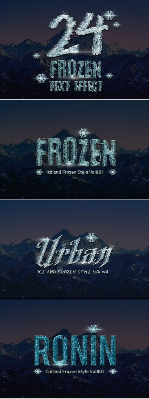 24 Frozen and Ice Text Effect - 1118495