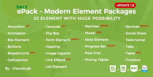 CodeCanyon - ePack v1.5.0 - 25 CSS3 Ultimate Element Packages - 19348367