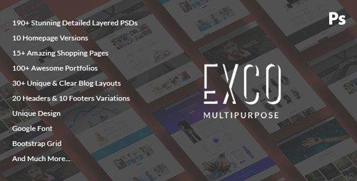 ThemeForest - ExCo v1.0 - Multi-Purpose PSD Template - 19514757