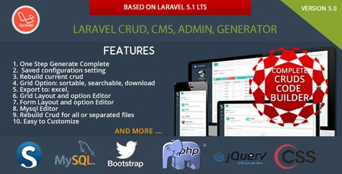 CodeCanyon - Laravel Multi Purpose Application - CRUD - CMS - Sximo 5 LTS v5.v.6 - 11893533