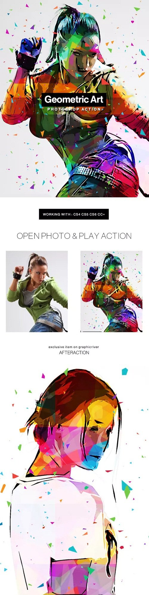 Geometric Art Photoshop Action - 20543613