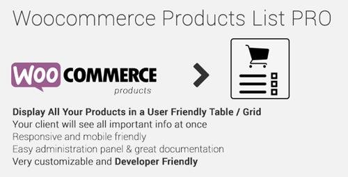 CodeCanyon - Woocommerce Products List Pro v1.1.18 - 17893660