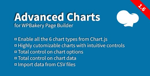 CodeCanyon - Advanced Charts Add-on for WPBakery Page Builder v1.6 - 19237508