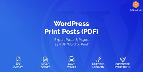 CodeCanyon - WordPress Print Posts & Pages (PDF) v1.1.6 - 20234379