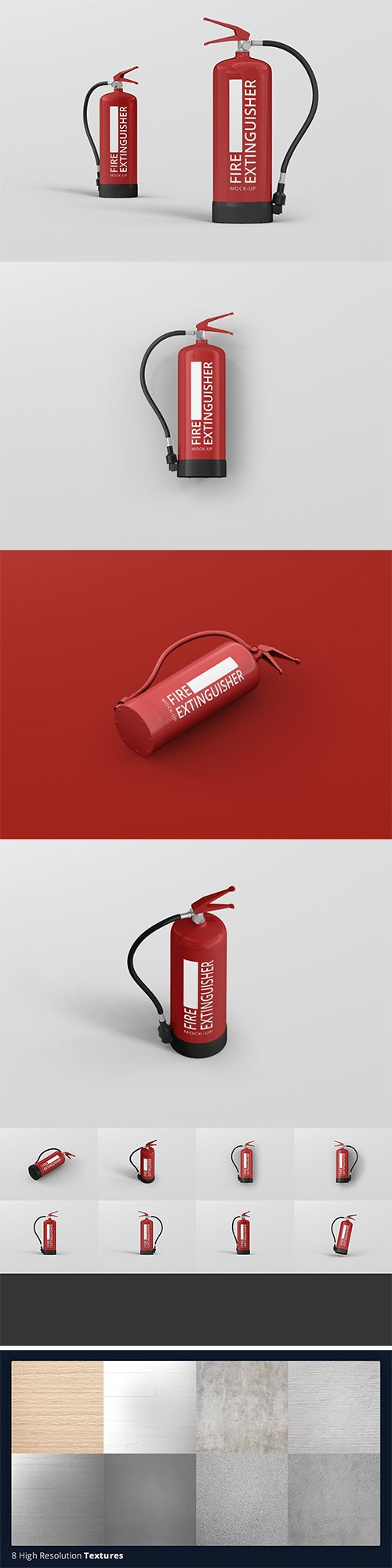 Fire Extinguisher Mockup PSD