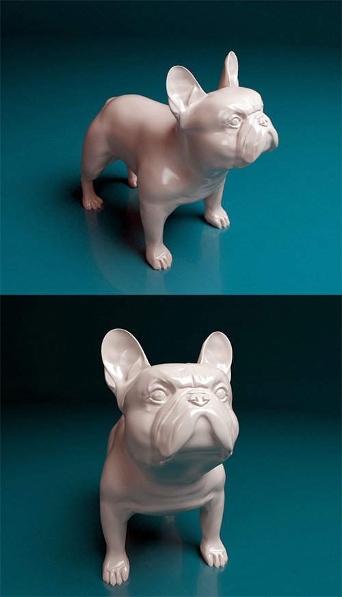 french bulldog 3D print model