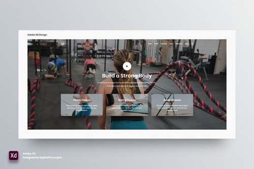 Hero Header Vol 10 - Adobe XD