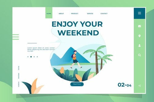Enjoy Weekend - Banner & Landing Page
