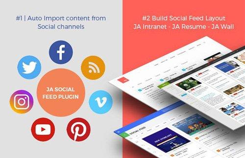 JoomlArt - JA Social Feed Plugin v1.3.8
