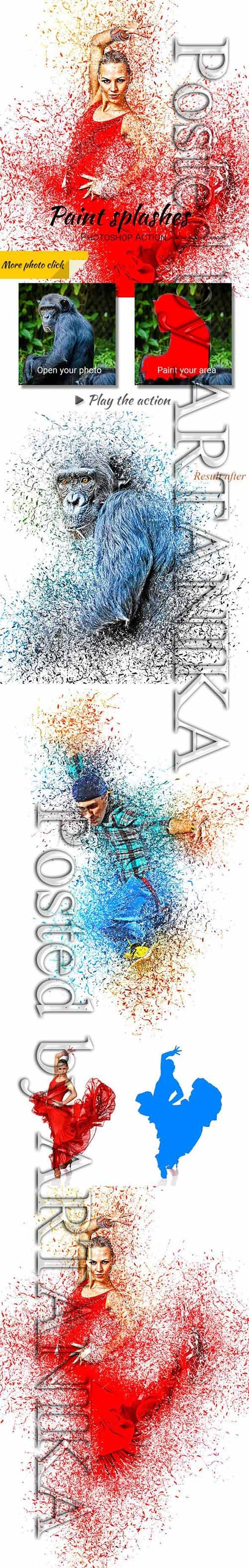 GraphicRiver - Paint Splashes Photoshop Action 23153270