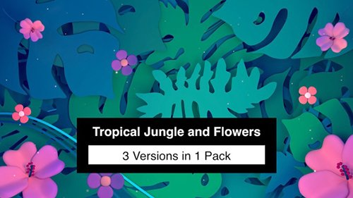 Tropical Jungle and Flowers Pack 23241650