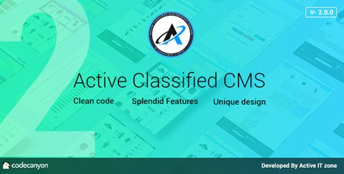 CodeCanyon - Active Classified CMS v2.0.0 - 9796582 - NULLED