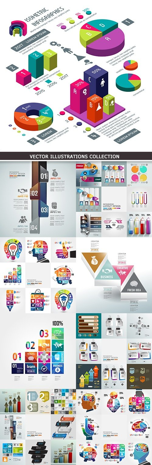 Business infographics options elements collection 31