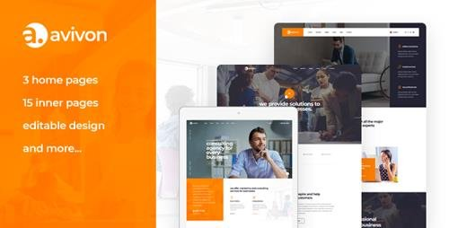 ThemeForest - Avivon v1.0 - Pure Business Consulting & Finance PSD Template - 22688911