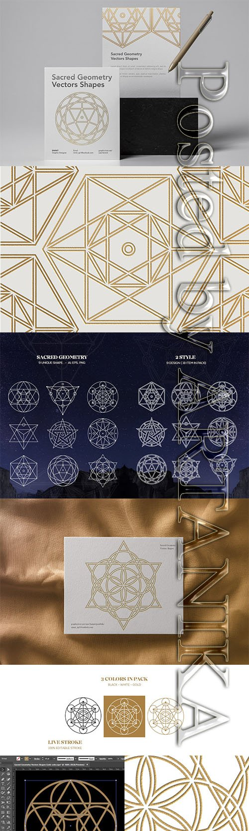 Sacred Geometry Vectors Shapes
