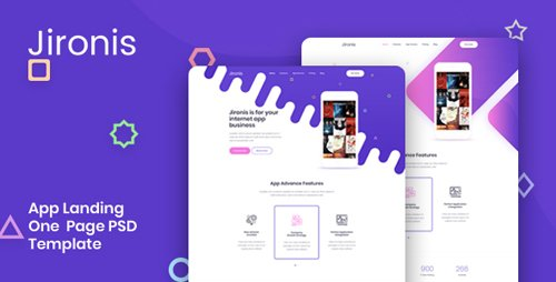 ThemeForest - Jironis v1.0 - App Landing One Page PSD Template - 22961800