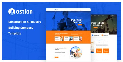 ThemeForest - Ostion v1.0 - Construction & Industry Building Company PSD Template - 23049437
