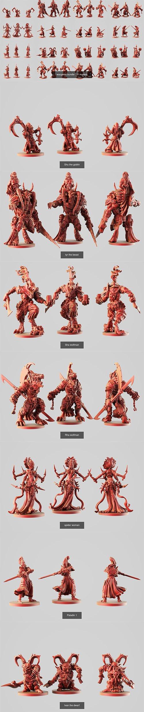 wargame bundle 3D Model Collection
