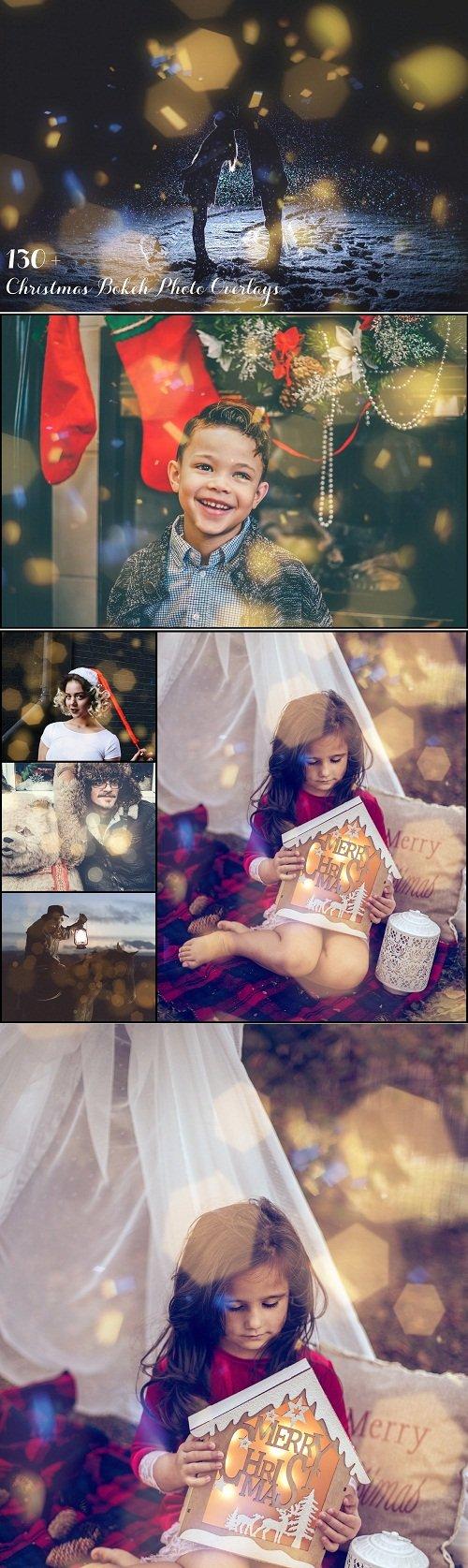 130+ Christmas Bokeh Photo Overlays 3196500