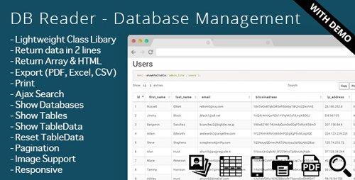 CodeCanyon - DB Reader - Database Management (Update: 23 December 14) - 9201107