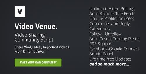 CodeCanyon - Video Venue v1.0 - Community Script - 8408932