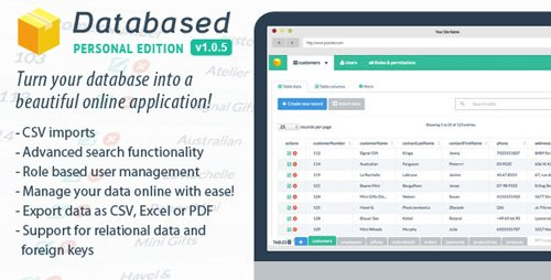 CodeCanyon - Databased v1.0.6 - Personal Edition - 7720610
