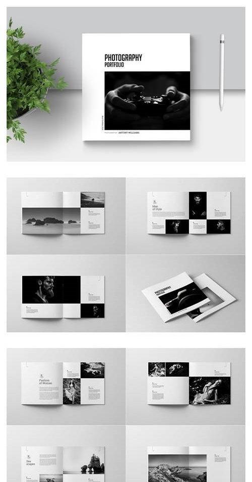 PSD Square photography Portfolio Template