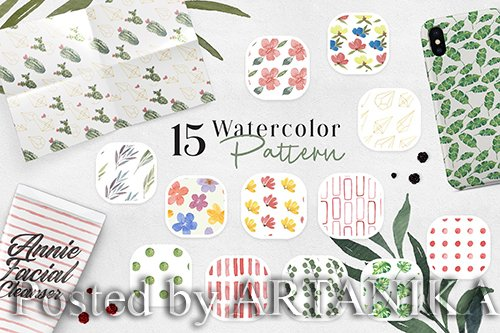 Ofi 15 Watercolor Pattern