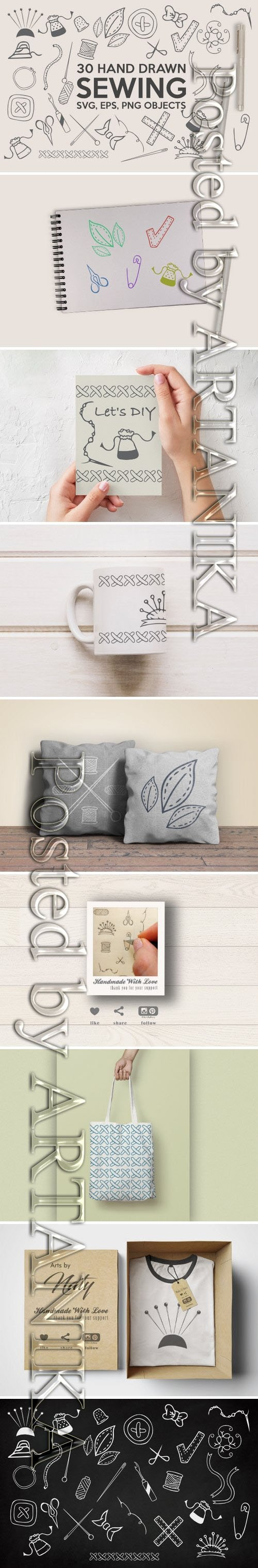 Hand Drawn Sewing Bundle