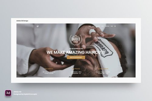 Hero Header Vol 16 - Adobe XD