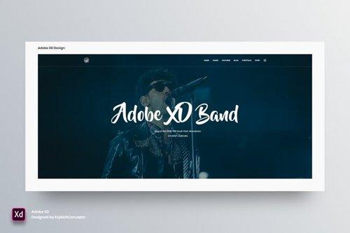 Hero Header Vol 21 - Adobe XD