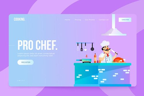 Cooking Chef Vector Illustration