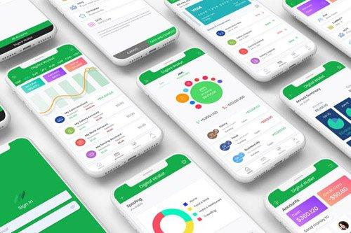 Digital Mobile Wallet UI