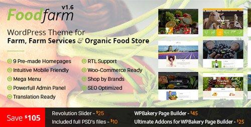 ThemeForest - FoodFarm v1.7.7 - WordPress Theme for Farm, Farm Services and Organic Food Store - 15359005