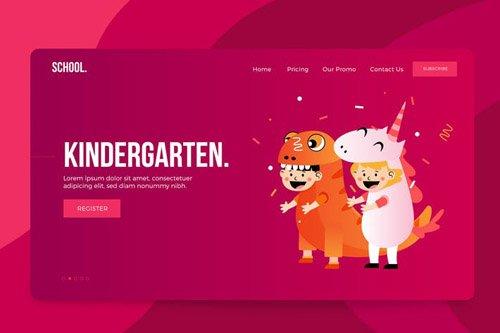 Kindergarten Vector Illustrations