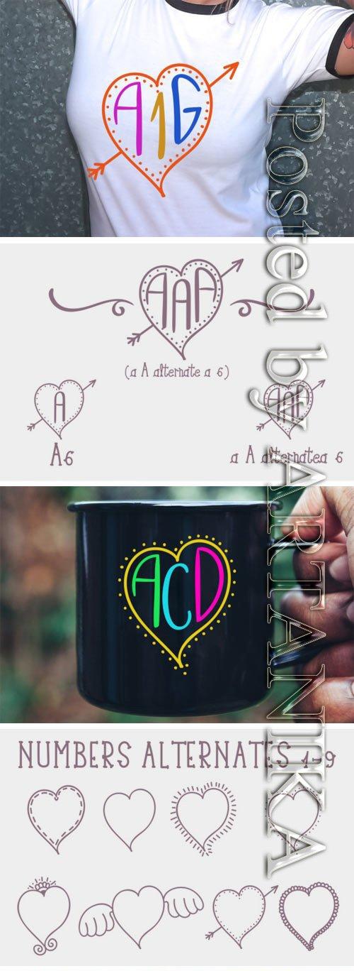 Heart Mono Font