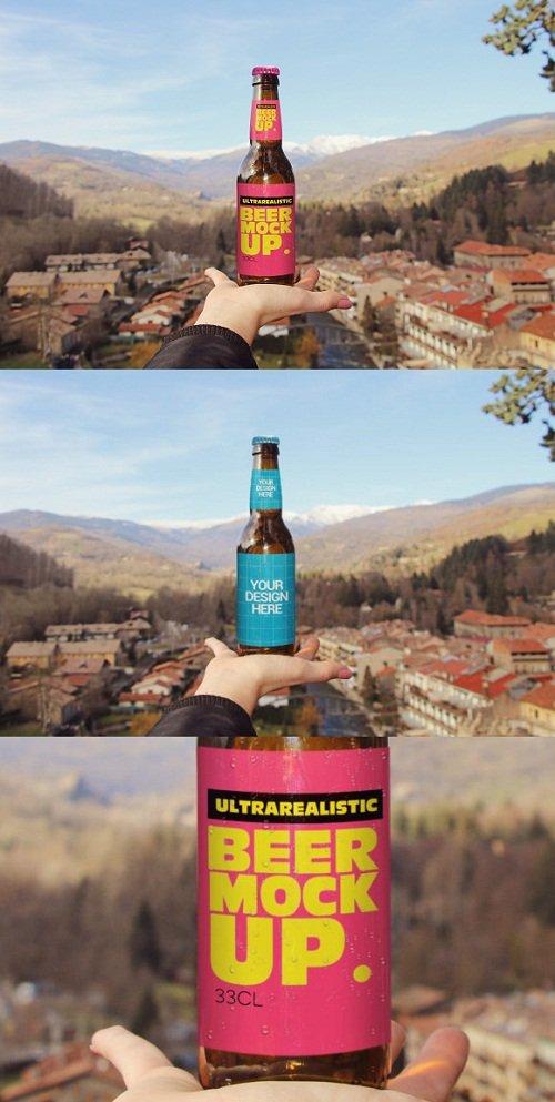 Hand Beer Mockup