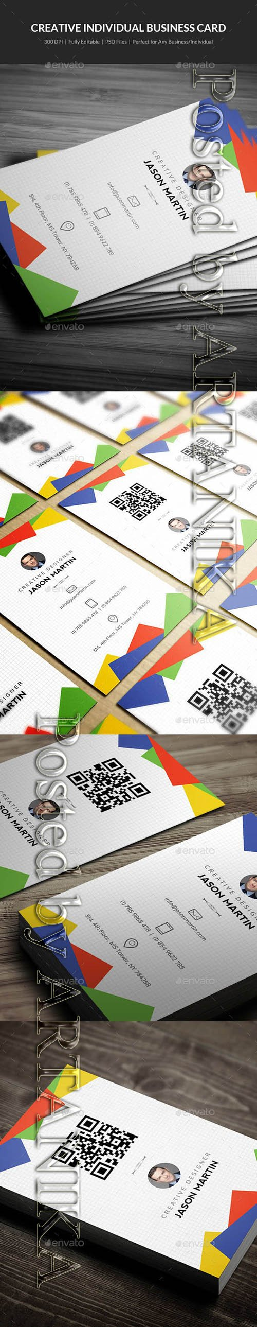GraphicRiver - Creative Individual Business Card - 09 21740555