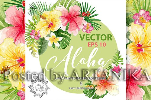 Aloha design Vector