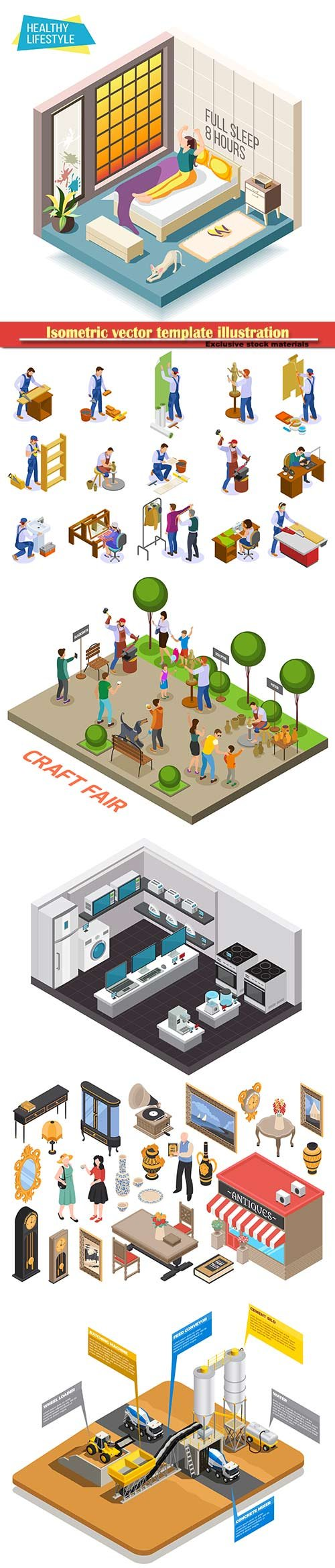Isometric vector template illustration # 35