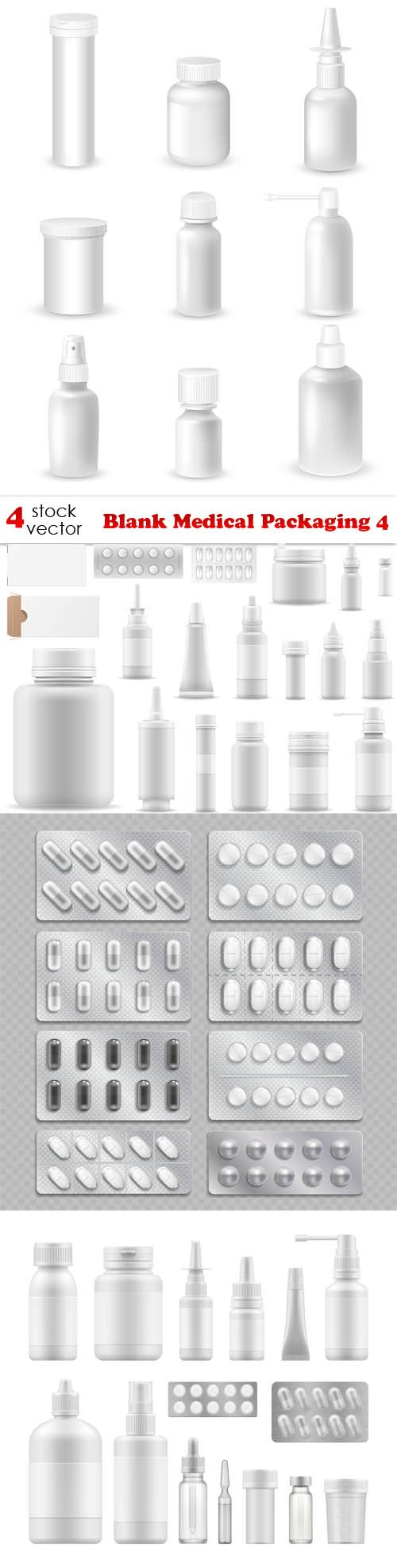 Vectors - Blank Medical Packaging 4