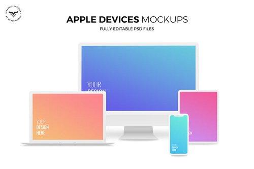 Desktop, Laptop, Mobile and Pad Mockups - M77SYZ