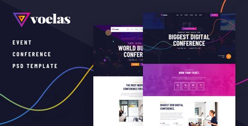 ThemeForest - Voelas v1.0 - Modern Event & Conference Organization PSD Template - 23176027