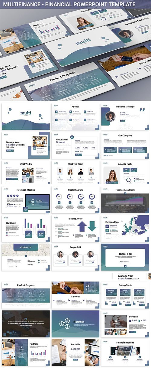 MultiFinance - Financial Powerpoint Template