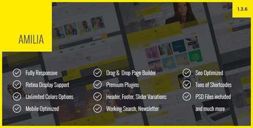 ThemeForest - Amilia v1.3.6 - Multipurpose One Multi Page WP Theme (Update: 8 February 19) - 13841964