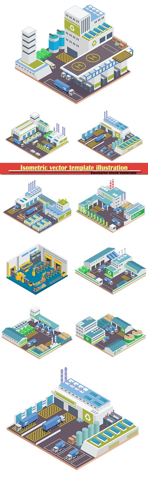 Isometric vector template illustration # 37