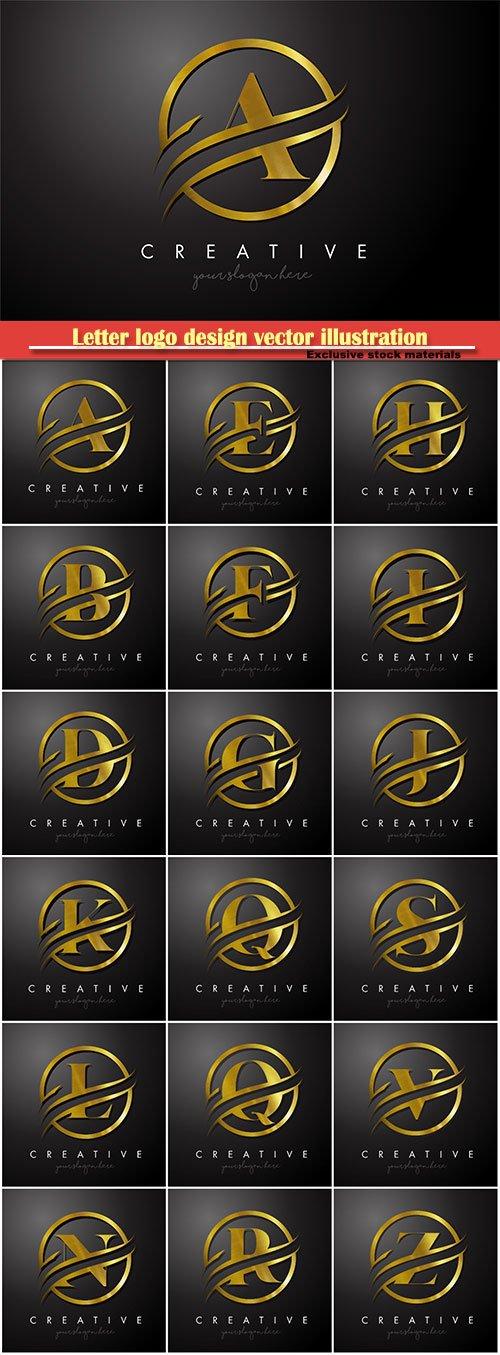 Letter logo design vector illustration template # 17
